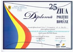 DIPLOMA ZIUA POLITIEI